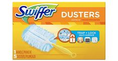 Swiffer Dusters Trap plus Lock dust and allergens. Made with specially coated fibers that grab onto dust and don't let go. They are uniquely designed to Trap plus Lock dust from even the tight spaces First Apartment Checklist, First Apartment Essentials, Thing 1, Dusters, Dust Mites, Trap, Sally Hansen, Starter Kit, Dusk
