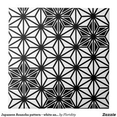Japanese Asanoha pattern - white and black