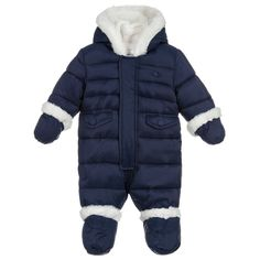 Baby Clothes, Shoes & Accessories The Essential One Unisex Dark Orange Fur Trimmed Snowsuit 6-9 Months Cool In Summer And Warm In Winter