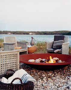 Fire Pits for Year-Round Patios - Design Chic The beach is perfect any time of the year