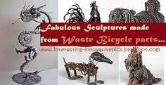תוצאת תמונה עבור sculpture from recycled materials
