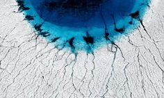'What should be pristine white is littered with blue' – Timo Lieber's Arctic photography   Art and design   The Guardian