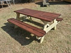 Alluring Picnic Table Ideas Home Decor Design Pinterest - How to stain a picnic table