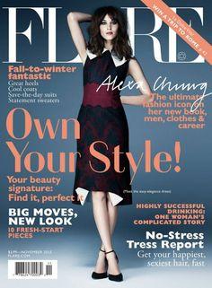 Alexa Chung Covers Flare November 2013 Issue | FashionMention