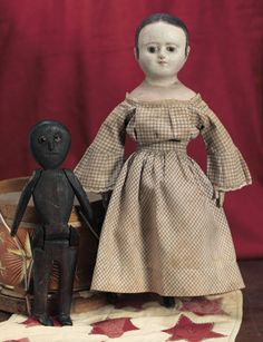 My Life as a Doll: 32 Very Rare American Cloth Doll by Izannah Walker