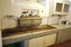 Ancient stone sink