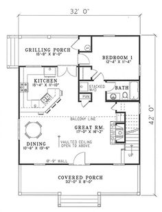 Main Floor PlanI would consider taking all or part of that Grilling Porch and letting it be pantry/laundry/mudroom. Then maybe a powder room could go where the W/D and Pantry are now, and the flu bath could open into the bedroom instead of being a public bathroom.