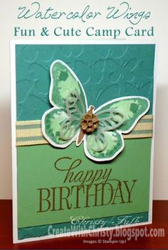 Stampin' Up! Watercolor Wings and Happy Birthday, Everyone Card - Create With Christy - Christy Fulk, Stampin' Up! Demo