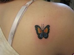 Meaning of butterfly tattoos and pictures of cute and small Butterfly Tattoo designs and images for on the wrist, shoulder, foot or lower back. Colorful Butterfly Tattoo, Butterfly Tattoos For Women, Small Butterfly Tattoo, Butterfly Tattoo Designs, Cool Tattoos For Girls, Small Tattoos For Guys, Cool Small Tattoos, Cross Tattoo Designs, Small Tattoo Designs