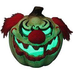 Scary Clown Light Up Pumpkin - 63cm