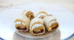 Peanut butter, jelly and cream cheese rollups