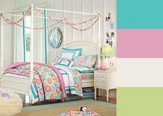 Cheerfull teen bedroom #colorscheme