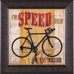 Art Effects Full Speed Ahead by Maria Donovan Framed Vintage Advertisement