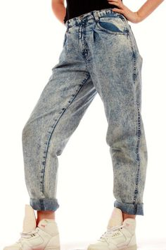 Vintage 80s Acid Wash Jeans | Get your vintage 80s and 90s party clothes and all manner of outrageous threads at Shinesty.com