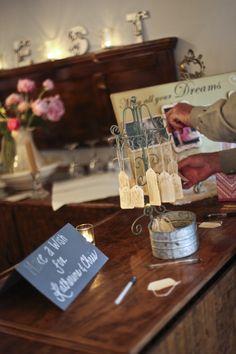 "Vintage wedding decor - ""Make a wish for Katherine  Chris."""
