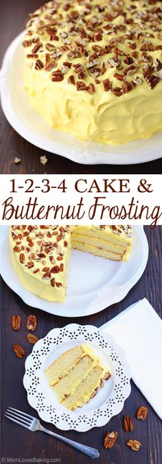 1-2-3-4 Cake is a tried and true Southern cake recipe that was my grandmother's favorite. My aunt Emily adds an AMAZING frosting which is just a basic cream cheese icing with a secret ingredient added. The result is fabulous! Try it and see. Recipe on http://MomLovesBaking.com
