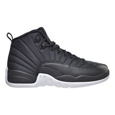 newest 0b4e9 b2751 Air Jordan 12 Retro BG Black Nylon xii Youth Lifestyle Sneakers New Black  Gym Red White