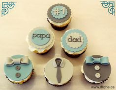 Cupcakes fete des peres | by dlichecupcakes