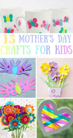 15 Easy Mother's Day Crafts For Kids Any Mom Will Love To Get Mother's Day is coming closer and Preschool Mothers Day Gifts, Diy Mothers Day Gifts, Mothers Day Cards, Easy Mothers Day Crafts For Toddlers, Nanny Gifts, Easy Mother's Day Crafts, Crafts For Kids To Make, Creative Crafts, Kids Crafts