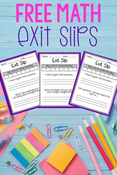 Get a collection of free math exit slips that can be used with any grade level and with any set of standards. These exit slips encourage meta cognition and the application of process standards. Paragraph Writing, Persuasive Writing, Writing Rubrics, Opinion Writing, 6th Grade Math Games, Sixth Grade Math, Fourth Grade, Math Resources, Math Activities