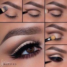 Profi Make-Up Tutorial! - Makeup Tips , Profi Make-Up Tutorial! Profi Make-Up Tutorial! Eye Makeup Steps, Natural Eye Makeup, Smokey Eye Makeup, Makeup For Brown Eyes, Skin Makeup, Eyeshadow Makeup, Makeup Tips, Makeup Tutorials, Makeup Ideas