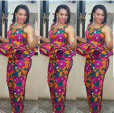 Today,we indulge you to have a look on this pretty Creative Ankara Skirt and Blouse for your our dear Besties . African Bridesmaid Dresses, African Wear Dresses, African Attire, Latest African Fashion Dresses, African Print Fashion, Ankara Fashion, Africa Fashion, African Prints, African Print Dress Designs