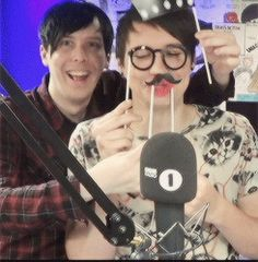 Dan and phil bbc radio (that smile that Dan has is too cute for my eyes)