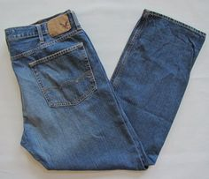 American Eagle Jeans Relaxed Straight Leg 42 34 Mens Medium Blue Cotton Denim #AmericanEagleOutfitters #Relaxed