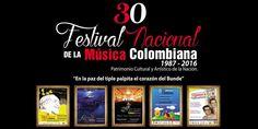 Lanzamiento del 30° Festival Nacional de la Música Colombiana. A seis grandes figuras de la música Colombiana, se rendirá homenaje musical en el Conciert...