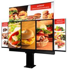 New Peerless-AV Xtreme Outdoor Triple Digital Menu Board Unveiled at Digital Signage Expo