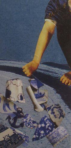 BOGO SALE original collage art on art panel by thebackoftheboat