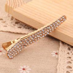 Fashion Hair Accessory Women Gold Plated Rhinestone Bobby Pin Hair Clip Pin | eBay