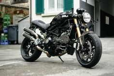 """Check out this beautiful beast of a Ducati Monster S4Rs, aka """"Bonnie Elisabeth Parker"""" built by Kbike, shot and ridden by Gianni Antenna in Italy."""