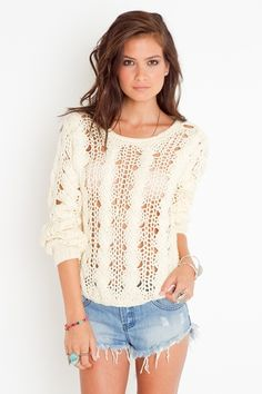Chunky Cream Cable Knit