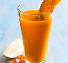 Caribbean Splash Smoothie With Guava, Kiwi, Papaya and OJ - All Nutribullet Recipes oj smoothies orange juice; Orange Juice Smoothie, Strawberry Banana Smoothie, Fruit Smoothies, Healthy Smoothies, Papaya Smoothie, Lassi Recipes, Smoothie Recipes, Juice Recipes, Papaya Benefits