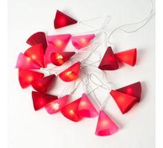 Guirlande Lumineuse Rose Rouge Fruit 20 ampoules