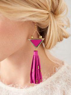 How to make luxe tassel earrings