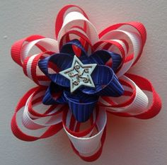Patriotic Hair Bow- Fourth of July, Memorial Day, Flag Day