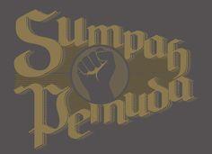 Lettering Typography Sumpah Pemuda