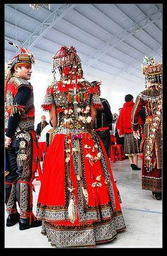 Rukai aboriginal wedding gown #Taiwan