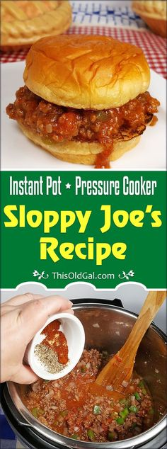 Skip the Canned Sauce and make this Easy Pressure Cooker Sloppy Joes recipe tonight. In under 30 minutes, you and your kids will be enjoying a Sloppy Joe! via @thisoldgalcooks