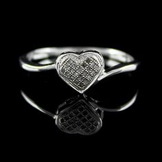 Heart Promise Genuine Diamond Ring Free Size Best Prices Gauranteed #jewelryauctionhouse #Infinity #qvcx