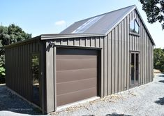 Donna Harrison from design uses Customkit Buildings for their new barn/studio Shed Homes, Tiny Homes, Barn Renovation, Barns Sheds, Exterior Cladding, Pole Barn Homes, Steel House, Home Design Plans, Shed Plans