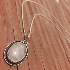 """Sterling Silver Moonstone Pendant & Chain Chain Stamped """"925 Mex"""" Size 22 inches. Pendant stamped """"Sterling"""".  This is not a stock photo. The image is of the actual article that is being sold  Sterling silver is an alloy of silver containing 92.5% by mass of silver and 7.5% by mass of other mThe sterling silver standard has a minimum millesimal fineness of 925.   All my jewelry is solid sterling silver. I do not plate.   Crafted in Taxco, Mexico  Will ship within 2 days of order. Jewelry…"""