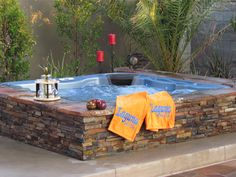 Image result for in ground hot tub