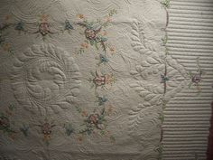 Vintage Tablecloth II quilted by Marilyn Farquhar