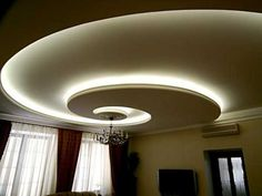 Ceiling Design with Hidden LED Lighting Fixtures