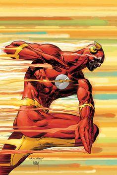 The adult Bart Allen as The Flash, DC Comics; Art by Andy Joe Kubert. Comic Book Characters, Comic Book Heroes, Comic Character, Comic Books Art, Comic Art, Comic Pics, Marvel Dc Comics, Dc Comics Art, Marvel Vs