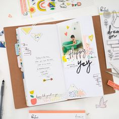 One Layout and Travel Notebook Spread - Dream On Collection With Evely – Pinkfresh Studio