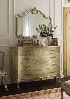 Luxury Furniture & Design — Mobili Andrea Fanfani from Italy. Homemade Bedroom Furniture, Luxury Bedroom Furniture, Bedroom Decor, Cozy Bedroom, French Furniture, Paint Furniture, Home Furniture, Furniture Design, Vintage Furniture